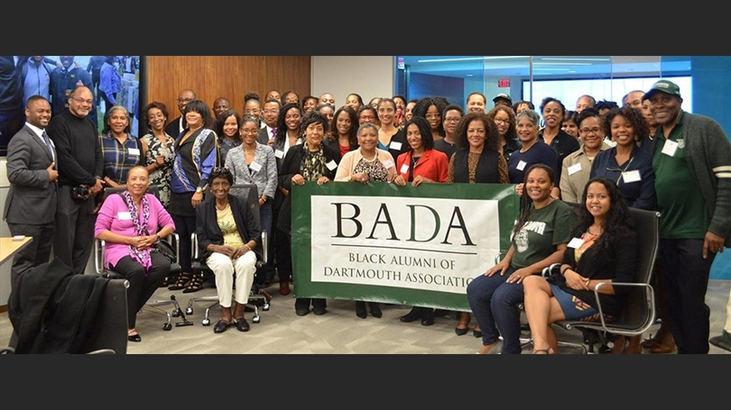 a group of Black Alumni of Dartmouth Association members